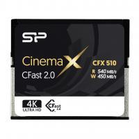 Silicon Power 128GB CFast 2.0 CinemaPro 540MB/s CFX510 pSLC Memory Card SP128GICFX511NV0BM