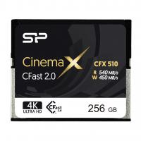Silicon Power 256GB CFast 2.0 CinemaPro 540MB/s CFX510 pSLC Memory Card SP256GICFX511NV0BM