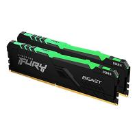 Kingston 16GB (2x8GB) KF426C16BBK2/16 FURY Beast 2666MHz DDR4 RAM - Black