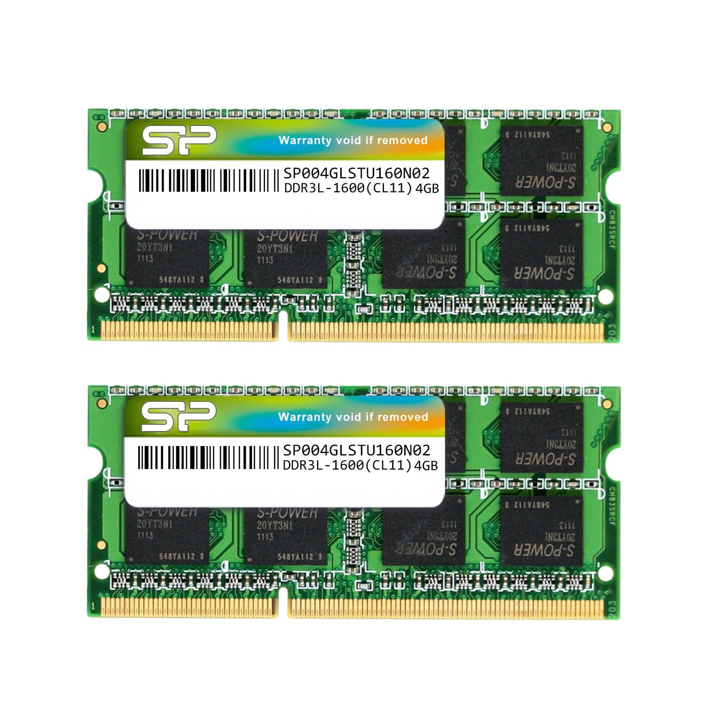 Silicon Power 8GB (2x4G) DDR3L 1600MHz PC3-12800 1.35V CL11 SODIMM RAM