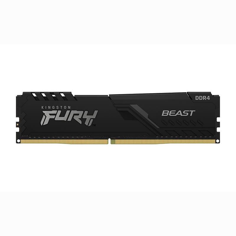 Kingston 16GB (2x8GB) KF432C16BBK2/16 Fury Beast 3200MHz DDR4 RAM - Black