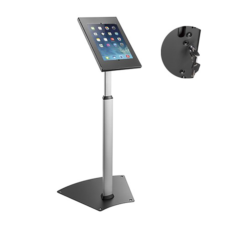 Brateck Anti-theft Height Adjustable Tablet Kiosk Floor Stand for IPad and Samsung Galaxy Tab A