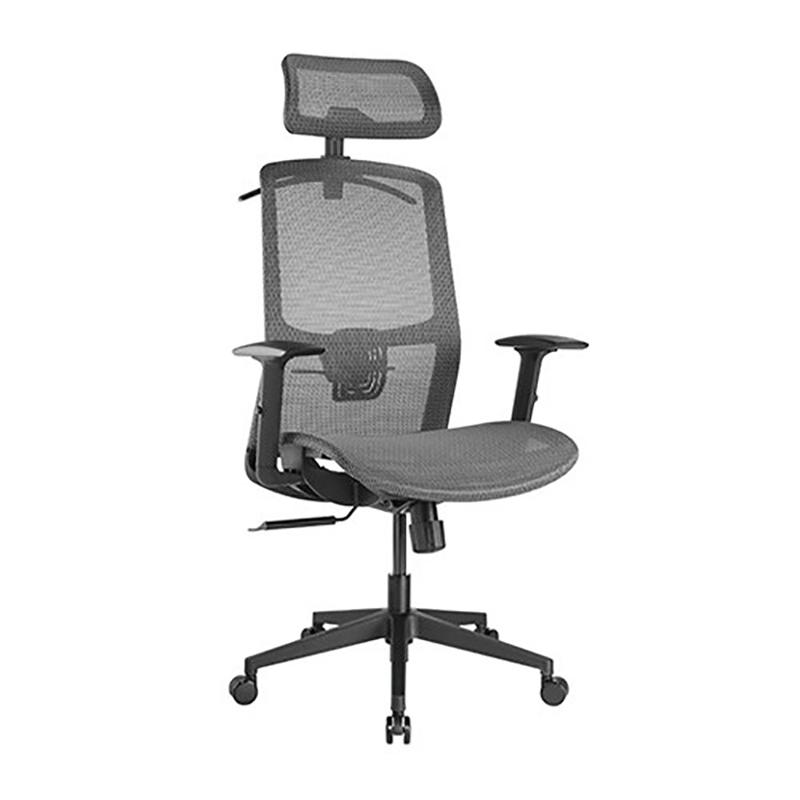 Brateck Ergonomic Mesh Office Chair with Headrest - Steel Mesh