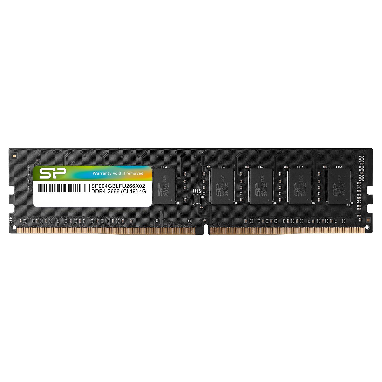Silicon Power 4GB SP004GBLFU266X02 CL19 UDIMM 2666MHz DDR4 RAM Single Desktop Memory