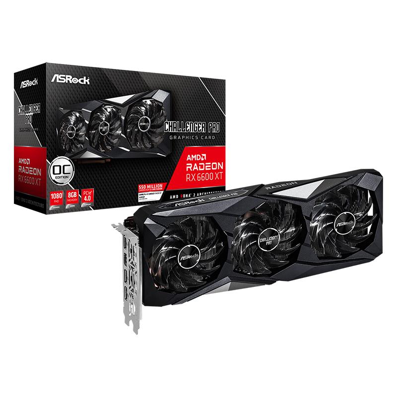 Asrock AMD Radeon RX 6600 XT Challenger Pro 8GB OC Graphics Card