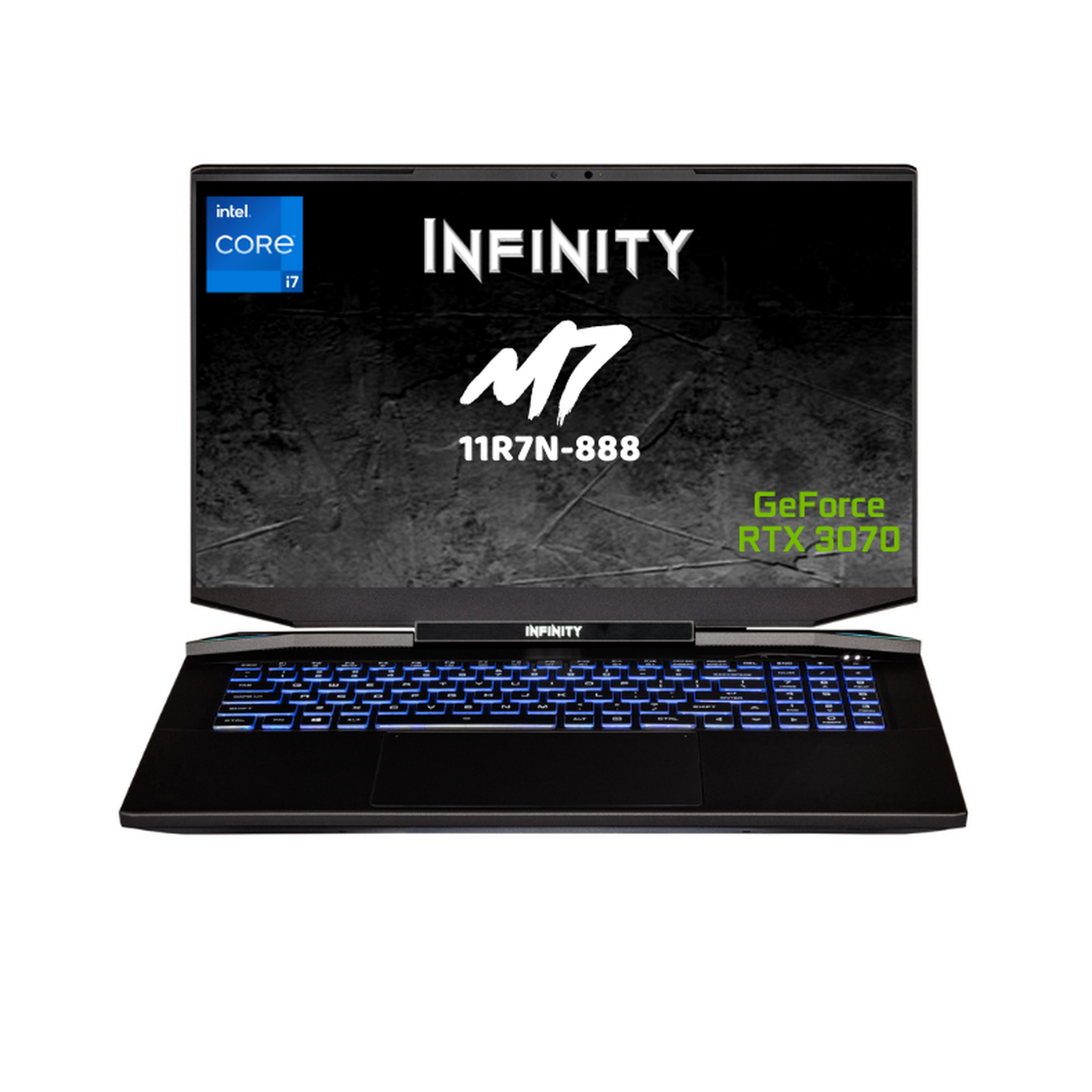 Infinity 17.3in QHD 165Hz i7-11800H RTX3070P 512GB SSD 16GB RAM W10H Gaming Laptop (M7-11R7N-888)