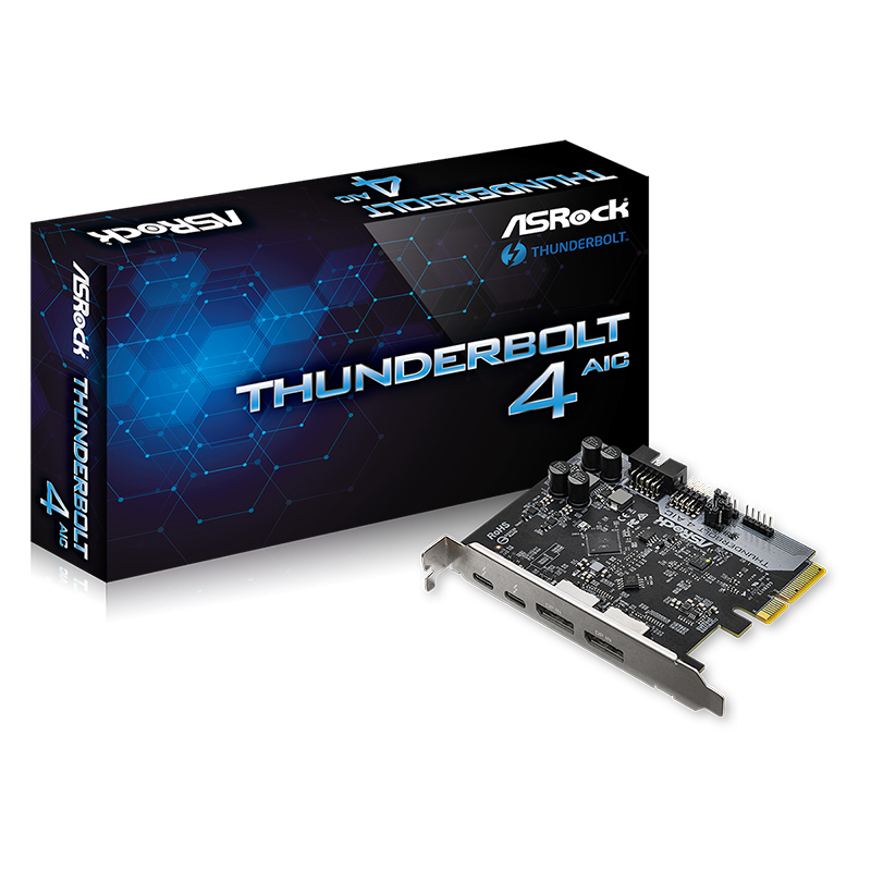 Asrock Thunderbolt 4 DisplayPort PCIe Add In Card