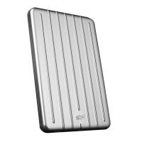 Silicon Power 256GB B75 USB C Scratch Resistant & Waterproof Portable External SSD with USB C to USB A cable
