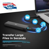 Silicon Power PD60 USB C USB 3.2 Gen 2 to M.2 NVMe SSD Aluminum Enclosure