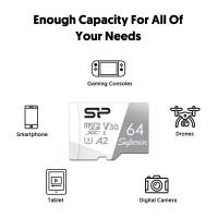 Silicon Power Superior 64GB V30 A2 4K/UHD with Adapter Micro SDXC