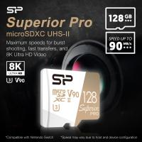 Silicon Power 128GB Superior PRO 8K V90 290MB/s Micro SDXC with Adapter
