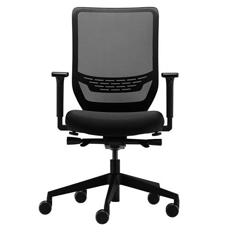 Ergotron Task Chair Adjustable Seat 410mm to 520mm High 5-star Base with Arm Rest Graphite Black