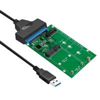 Simplecom SA221 USB 3.0 to mSATA + NGFF M.2 B Key SSD Adapter