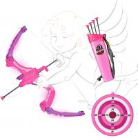 SainSmart Jr. Kids Bow and Arrows, Light Up Archery Set for Kids Outdoor Hunting Game with 5 Durable Suction Cup Arrows, Pink
