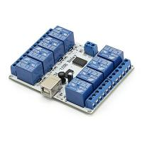 SainSmart USB Eight Channel Relay Board for Automation - 12 V