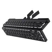 RK ROYAL KLUDGE RK925 68 Keys 60% Foldable Mechanical Keyboard with Built-in Stand Holder, Wireless Bluetooth Mechanical Keyboard with White Backlit