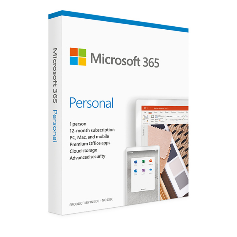 Microsoft Office 365 Personal Retail - 1 Year Subscription