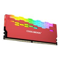 Coolmoon RA-2 ARGB SYNC Memory module RAM Cooling Shell - Red