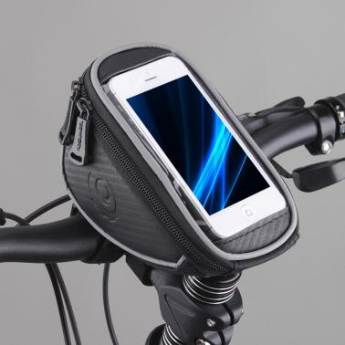 Roswheel Cycling Bike Bicycle Front Top Frame Handlebar Bag Pouch for 5.5in Cellphone 1.2L