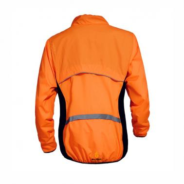 WOLFBIKE Cycling Jersey Men Riding Breathable Jacket Cycle Clothing Bike Long Sleeve Wind Coat Orange 3XL