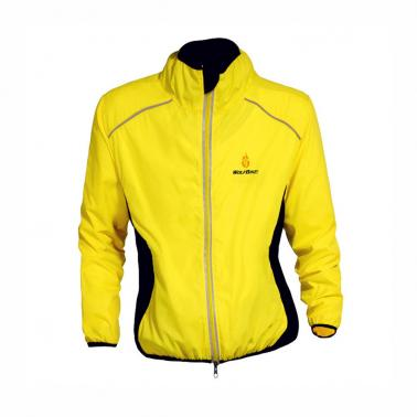 WOLFBIKE Cycling Jersey Men Riding Breathable Jacket Cycle Clothing Bike Long Sleeve Wind Coat Yellow XL