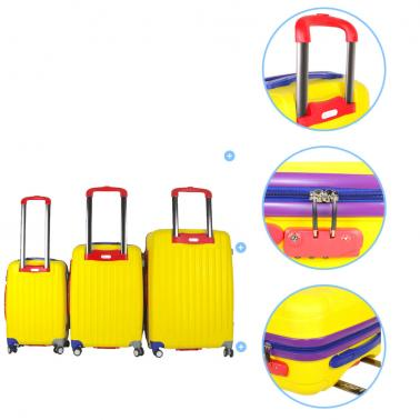 "Fashion Luggage Set Travelling Case Trolley Bag Universal Wheel Spinner Boarding Luggages Box Valise 22""/26""/30"""