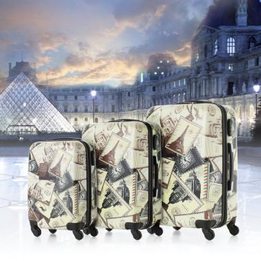 TOMSHOO Fashion 3PCS Luggage Set-Landmark Building Pattern