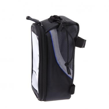 "Bike Bicycle Frame Front Tube Bag for Cell Phone 4.8"" PVC Blue"