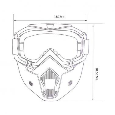 F-002 Motorcycle Cross Country Mask Goggles
