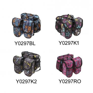 Bicycle Bike Top Tube Frame Front Pannier Saddle Bag Double Side Outdoor Cycling Cool Personalized