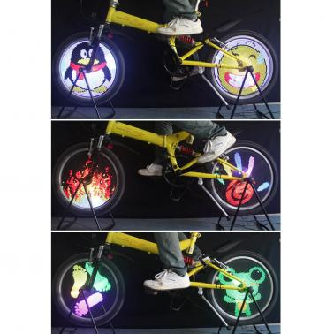 96 RGB LEDs Water Resistant Anti-shock Spoke Light Color Changing Bike Bicycle Wheel Light
