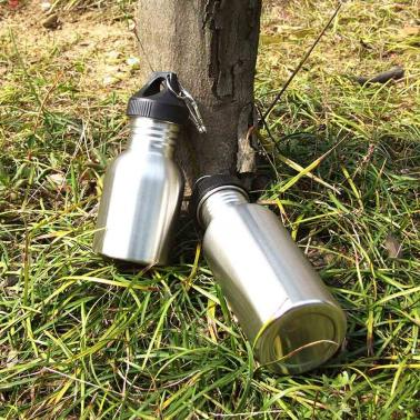 350ml Outdoor Sports Stainless Steel Wide Mouth Drinking Water Bottle for Camping Cycling
