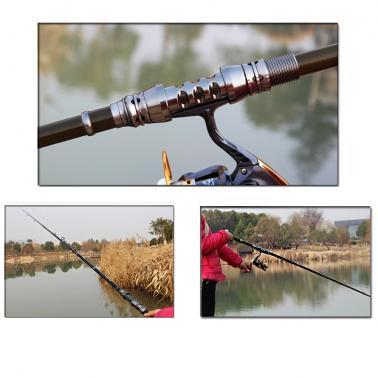 2.4M 7.87FT Portable Telescopic Carbon Fiber Fishing Rod Travel Spinning Fishing Pole