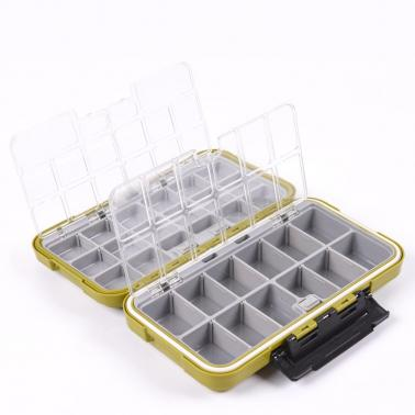Large Water Resistence Storage Case Fly Fishing Lure Spoon Hook Bait Tackle Box Army Green