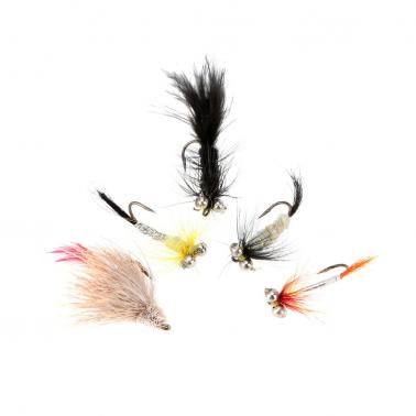 12Pcs Fly Fishing Hooks Fishing Lure with Feather Fishing Tackle