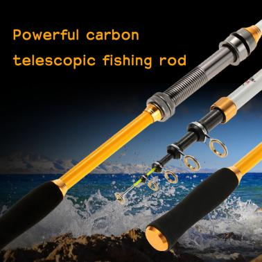 1.8M / 2.1M / 2.4M / 2.7M / 3.0M / 3.6M Superhard Ultralight Carbon Telescopic Fishing Rods Casting Fishing Rod Powerful