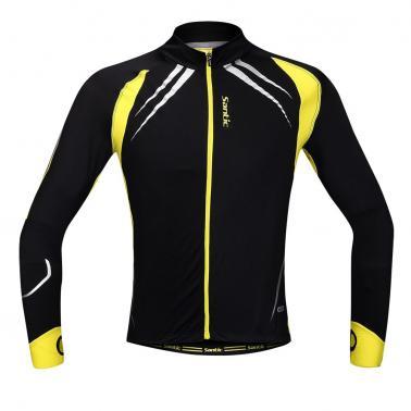 SANTIC Cycling Fleece Thermal Long Jersey Fall Winter Jacket