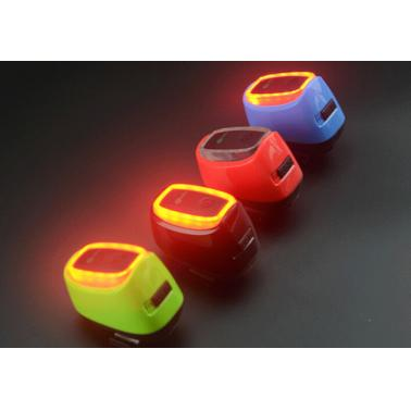 16 LED Lights 7 Modes Intelligent Rechargeable Bicycle Rear Light with USB Cable