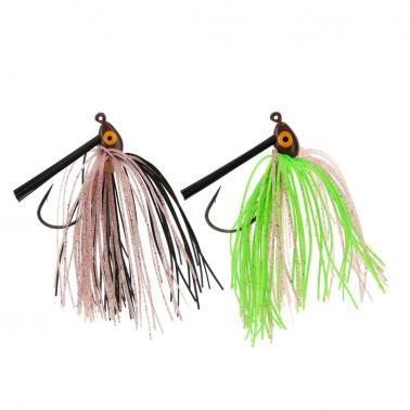 Rubber Beard Fishing Lure Lead Head Beard Fishing Lure Bait with One 4.5cm Hook