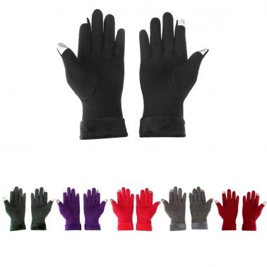 Winter Touchscreen Gloves Outdoor Sports Touchscreen Gloves Free Size Warm Touchscreen Gloves For Women