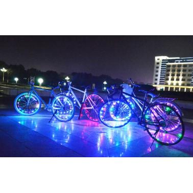 Water-resistant 20 LEDs Bicycle Bike Cycling Rim Lights LED Wheel Spoke Light 2.2m String Wire Lamp