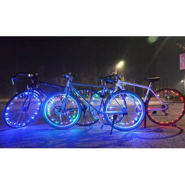 Rechargeable Water-resistant 20 LEDs Bicycle Bike Cycling Rim Lights LED Wheel Spoke Light 2m String Wire Lamp