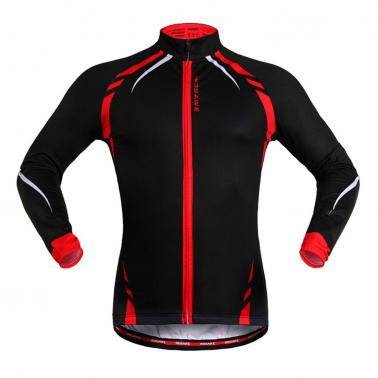 WOSAWE Winter Outdoor Sports  Warm Fleece  Long  Cycling Sleeve Jacket