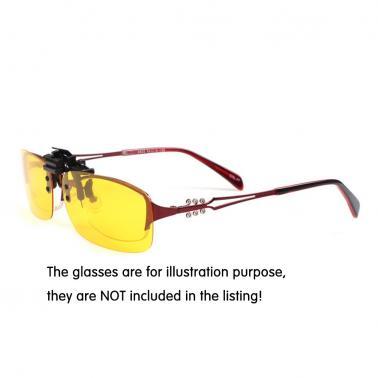 Polarized Clip On Sunglasses Anti-UV Uniex Lens