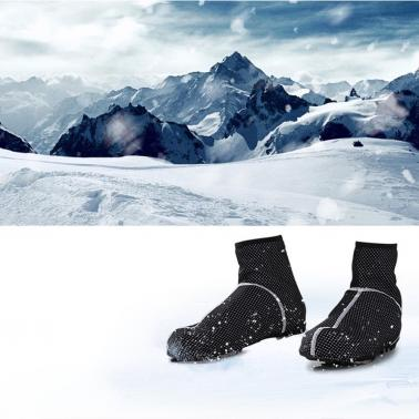 Windproof Cycling Shoe Covers Protector Overshoes Winter Thermal Fleece