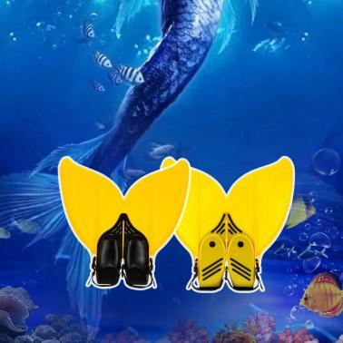 Teen Teenager Mermaid Swim Fin Diving Monofin Swimming Foot Flipper