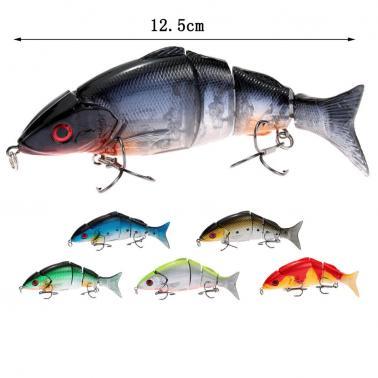 12.5cm 20g Life Like Hard Bait Multi Jointed Segmented Section Fishing Lure with Treble Hooks
