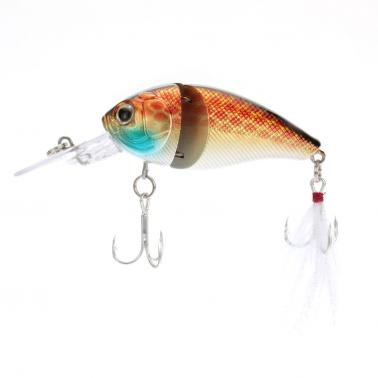 8.5cm 15g 2-Jointed Fishing Hard Lure Chubby Fatty Crank Bait Tackle
