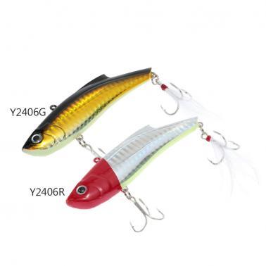 9cm 27g VIB Vibration Hard Bait Perch Killer Fishing Lure Fishing Tackle with 2 Treble Hooks Feather