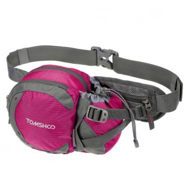 TOMSHOO Water-resistant Outdoor Waist Bag Sports Waist Pack with Water Bottle (Not Included) Holder for Hiking Running C